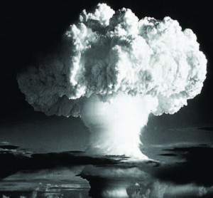 Mushroom cloud from a nuclear weapon