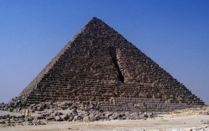 An historical attempt to destroy a pyramid.