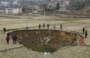 sinkhole China coal mining