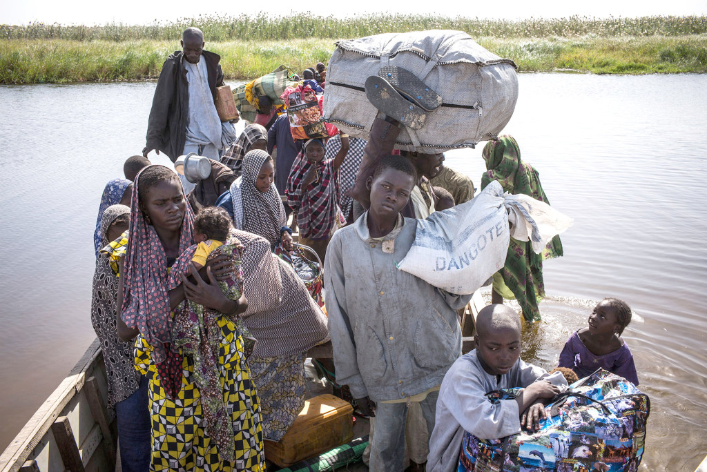 Boko Haram - Nigerian Family Fleeing Baga-Lake-Chad