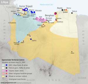 Libya civil war map 2015